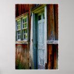 Primitive Country Barn Door Poster