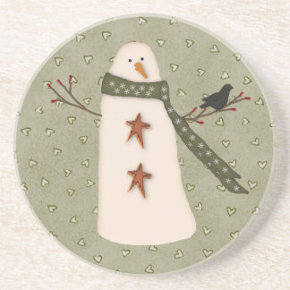 Primitive Country Snowman Coaster