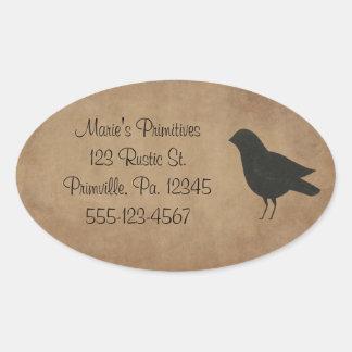 Primitive Crow Sticker