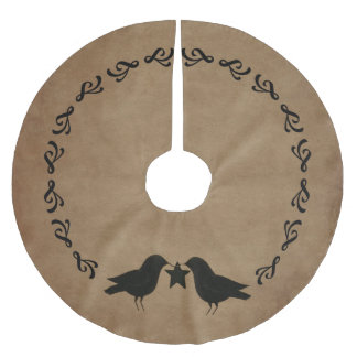 primitive Crows Circle Tree Skirt Brushed Polyester Tree Skirt