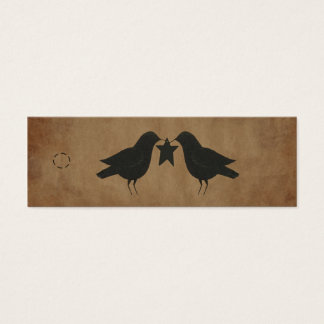 Primitive Crows Hang Tag Mini Business Card