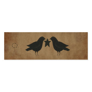 Primitive Crows Hang Tag Pack Of Skinny Business Cards