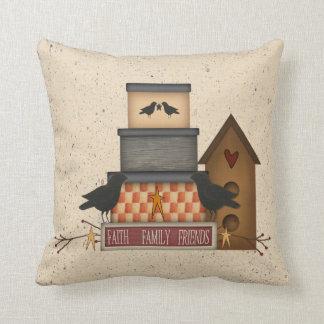 Primitive Faith Family Friends Pillow