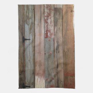 primitive farmhouse western country barn wood tea towel