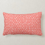 Primitive Geometric Pattern in Live Coral Lumbar Cushion