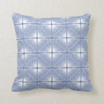 Primitive Geometric Strings in Hydrangea Blue Cushion