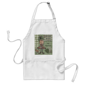 Primitive Girl and Cats Standard Apron
