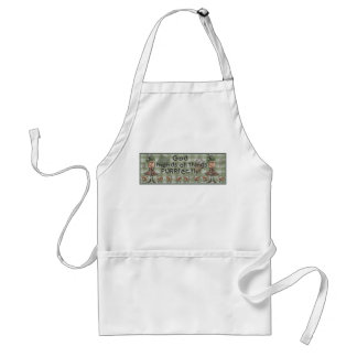 Primitive Girl and Cats Adult Apron