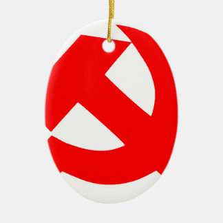 Primitive Hammer and Sickle Soviet Union CCCP Christmas Ornament