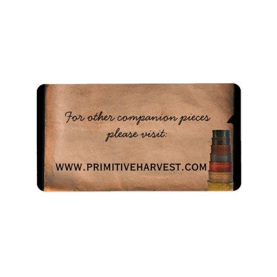 Primitive Harvest Special Label Address Label