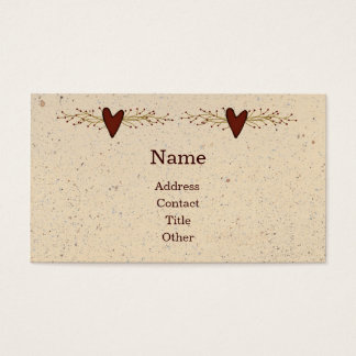 Primitive Heart Business Card