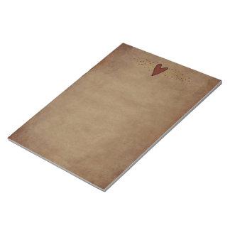 Primitive Heart Large Notepad