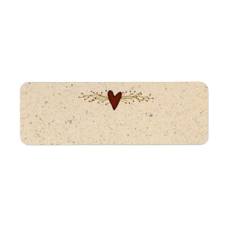 Primitive Heart Small Product Label Return Address Label