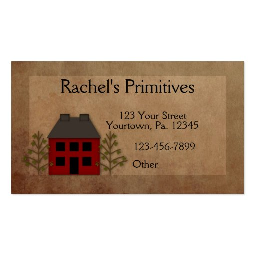 Primitive Home Business Card