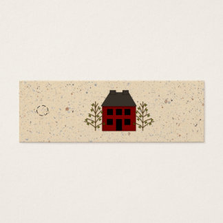 Primitive House Skinny Hang Tag Mini Business Card
