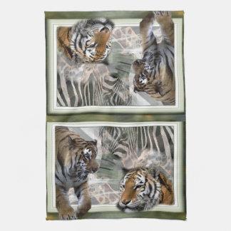 Primitive Jungle Print Tea Towel