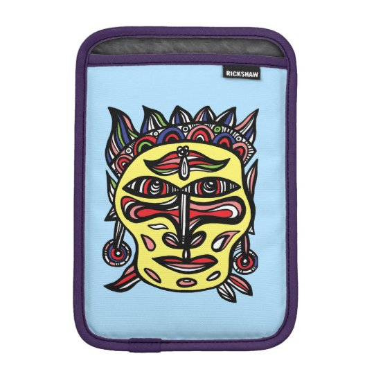 """Primitive Mask"" iPad Mini Soft Case"