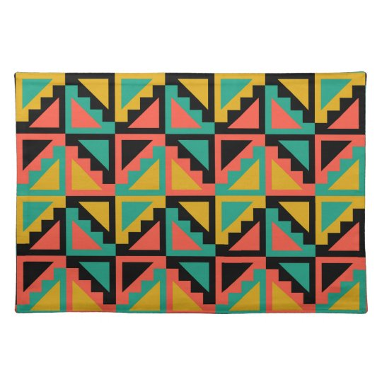 Primitive Mexican Steps Pattern Placemats