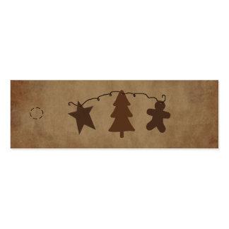 Primitive Ornaments Hang Tag Business Card