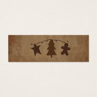 Primitive Ornaments Hang Tag Mini Business Card