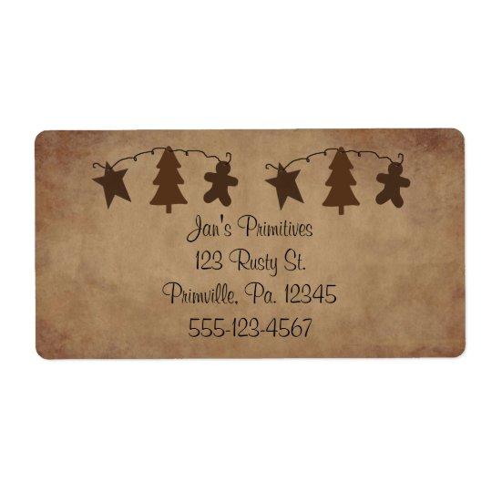 Primitive Ornaments Label