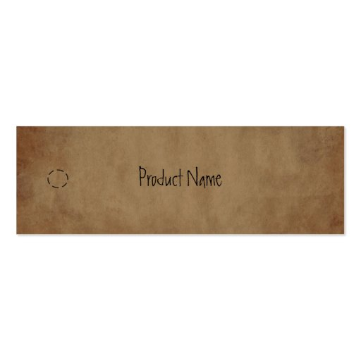 Collections of hang tag business cards primitive paper hang tag business card template reheart Gallery