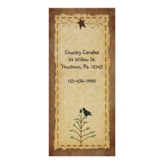 Primitive Pine Tree Rack Card