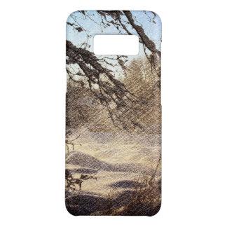 Primitive Pine Tree Woodland Winter Forest Case-Mate Samsung Galaxy S8 Case