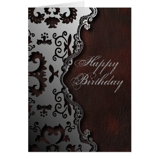 primitive rustic Western Country paisley pattern Card