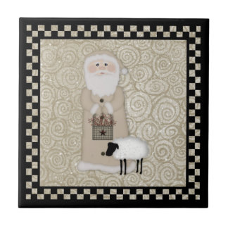 Primitive Santa Tile
