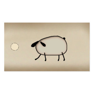 Primitive Sheep Hang Tag Business Cards