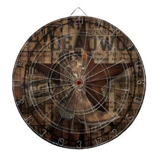 Primitive Star Grunge Western Country Cowboy Dartboard