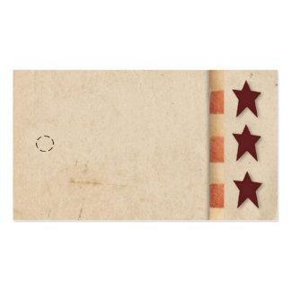 Primitive Star Hang Tag Pack Of Standard Business Cards