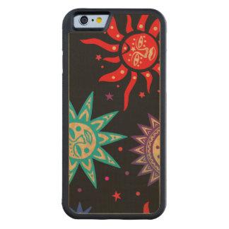 Primitive Suns Wood Phone Case - SRF Carved® Maple iPhone 6 Bumper