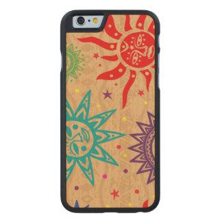 Primitive Suns Wood Phone Case - SRF Carved® Maple iPhone 6 Case