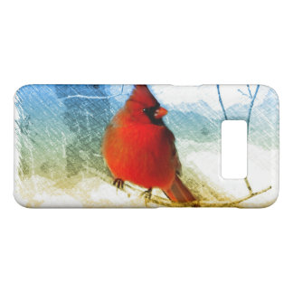 Primitive western country christmas red cardinal Case-Mate samsung galaxy s8 case