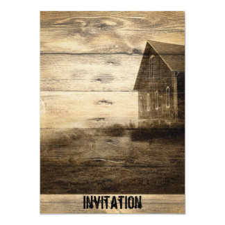 primitive western country farmhouse country cabin card