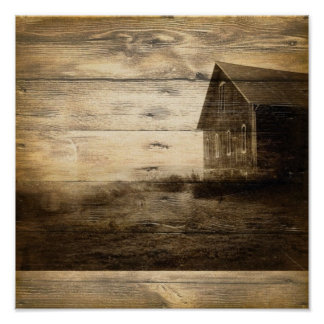 primitive western country old barn farmhouse cabin poster