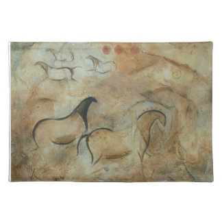 Primitve Cave Horses placemat Ancient Awakenings