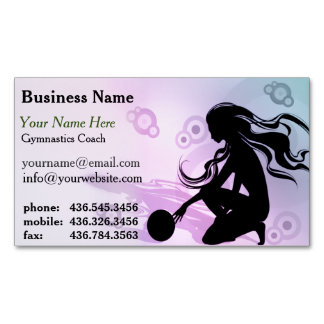 Primo Gymnastics Coach Magnetic Business Card Magnetic Business Cards