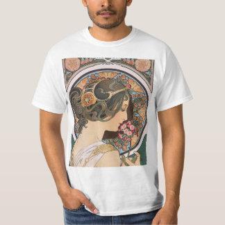 Primrose by Mucha - Vintage Floral Art Nouveau T-Shirt