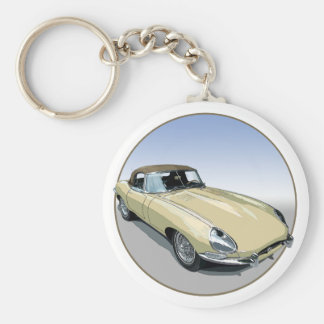 Primrose E Type Roadster Keychains
