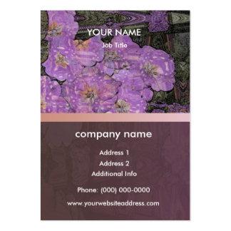 Primrose Macrame Retro Profile Card Business Cards