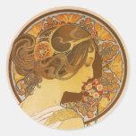 Primrose Round Sticker