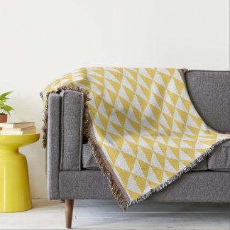 Primrose Yellow with White Coastal Geometric Arrow Throw Blanket