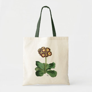 Primula Auricula Red Tote Bag