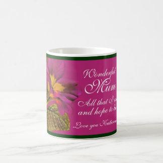 "Primula floral ""Wonderful Mum all that I am"" mug"