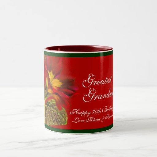 """Primula """"Greatest Grandma"""" 70th birthday mug"""