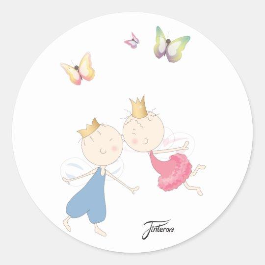 Primus&prism kissing classic round sticker