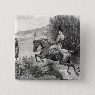 Prince Albert Hunting near Belvoir Castle 15 Cm Square Badge